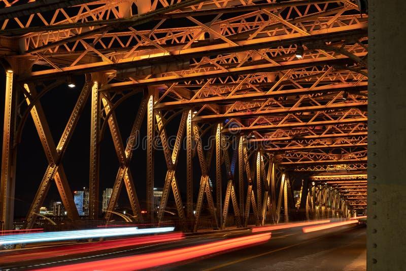 Wedding Bridge over Bond in Shanghai stock photos