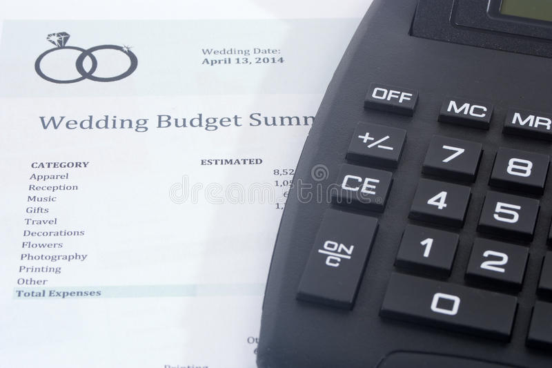 Wedding Budget With Calculator Stock Image  Image Of Budget Bank