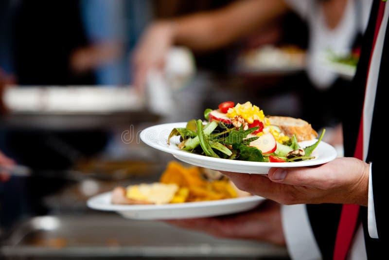 Wedding buffet salad stock image