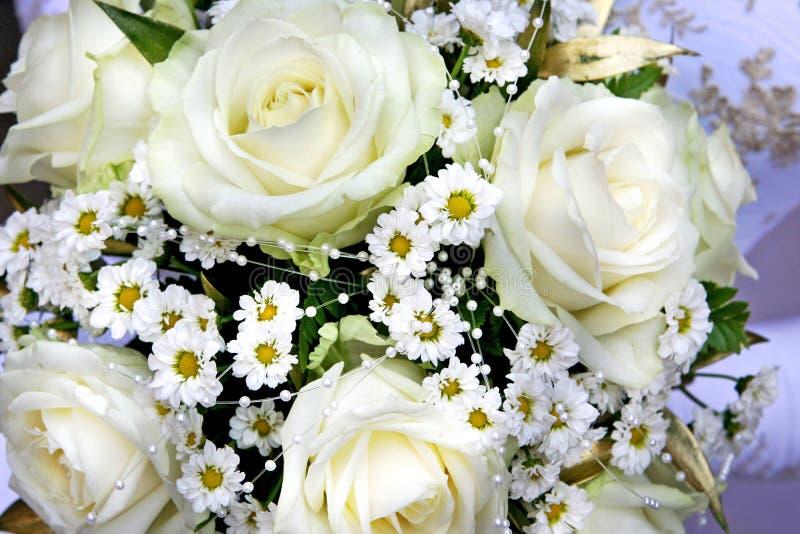 Wedding bunch of flowers stock image