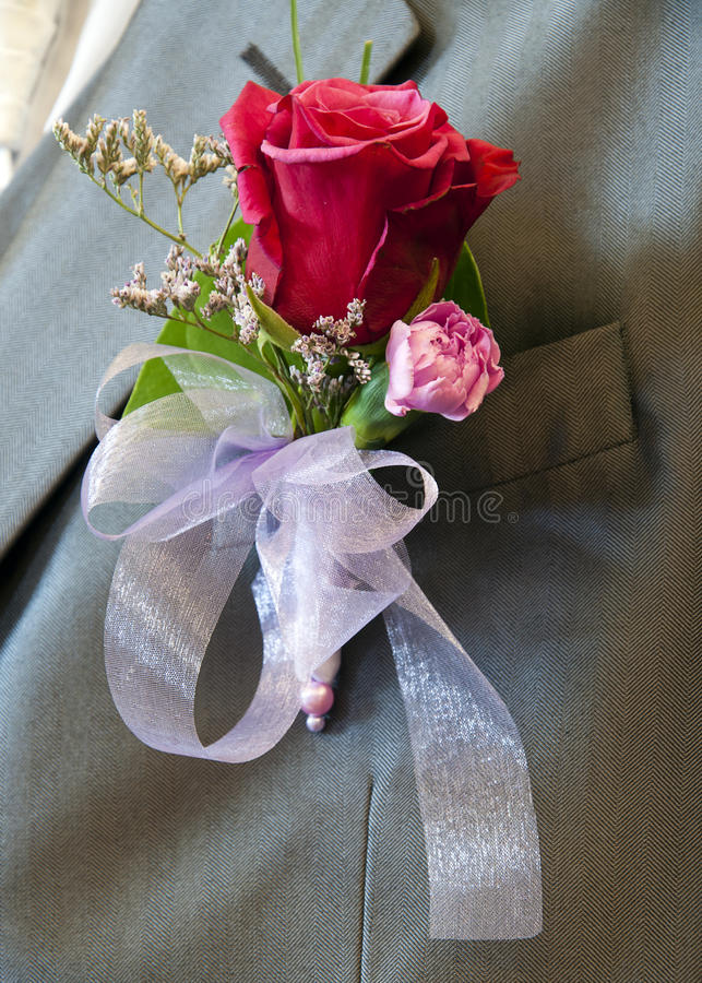 Wedding Button Flower Stock Photo