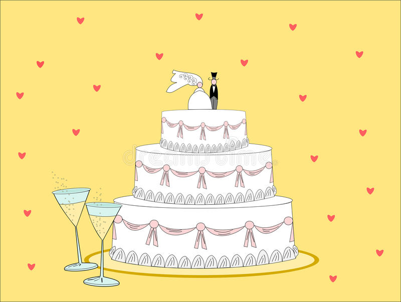 Download Wedding cake stock illustration. Image of vector, illustrations - 10928983