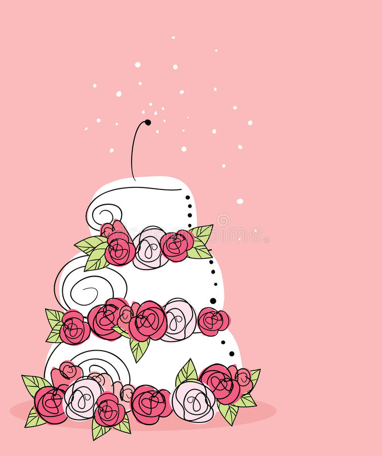 Download Wedding cake stock vector. Illustration of pink, pastel - 11166304