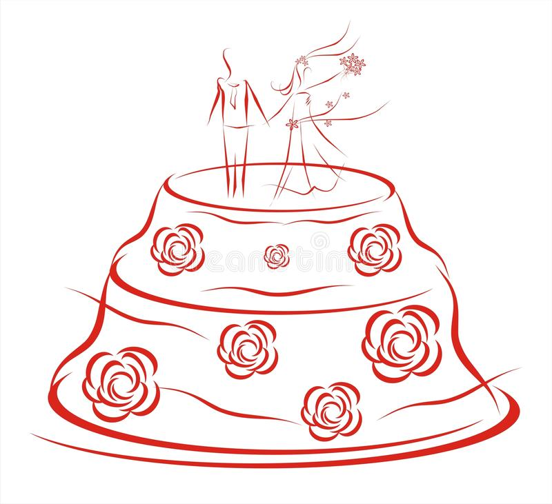 Download Wedding cake stock illustration. Illustration of gift - 11209354