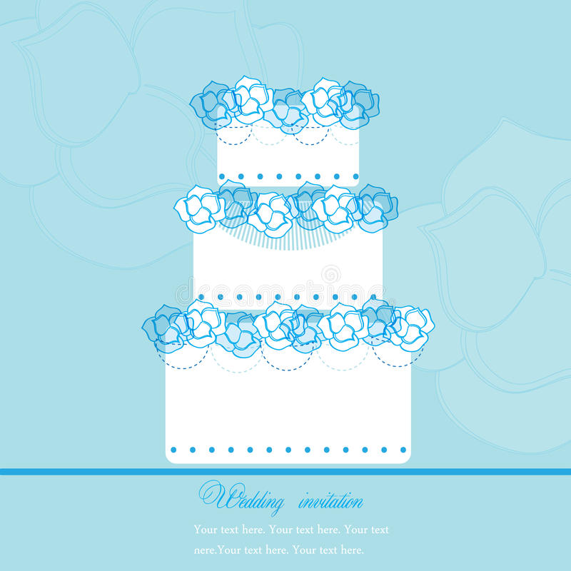 Download Wedding Cake stock vector. Image of illustration, icing - 14455140