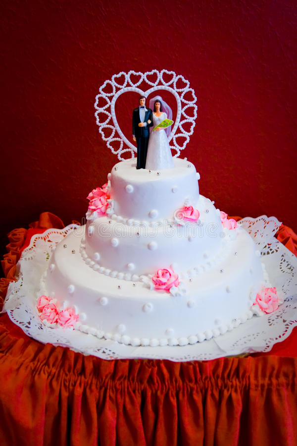 Download Wedding cake stock image. Image of bride, heart, catering - 15874285
