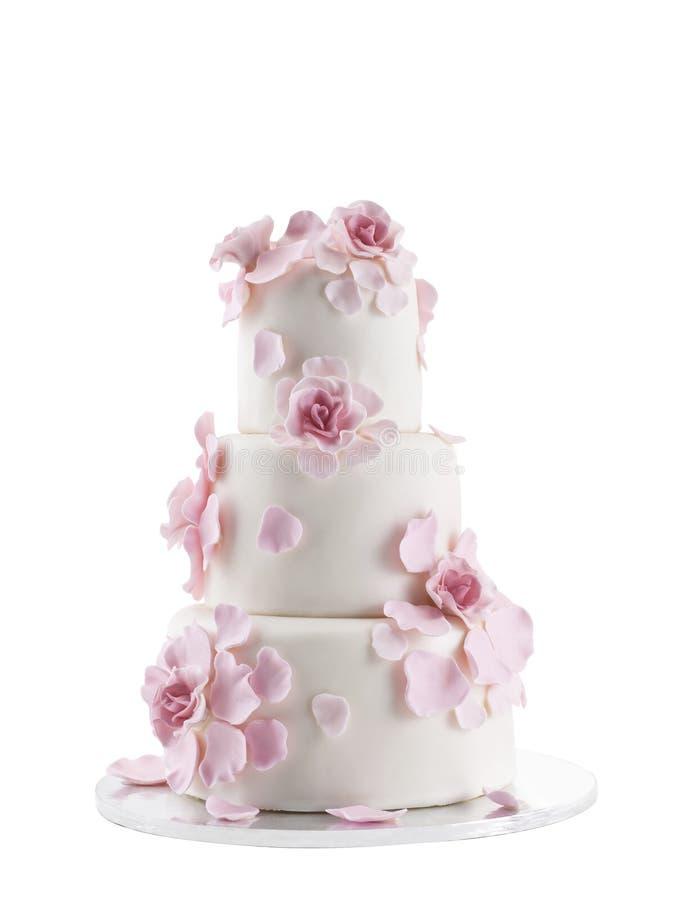 Wedding Cake. Isolated On White Background royalty free stock images