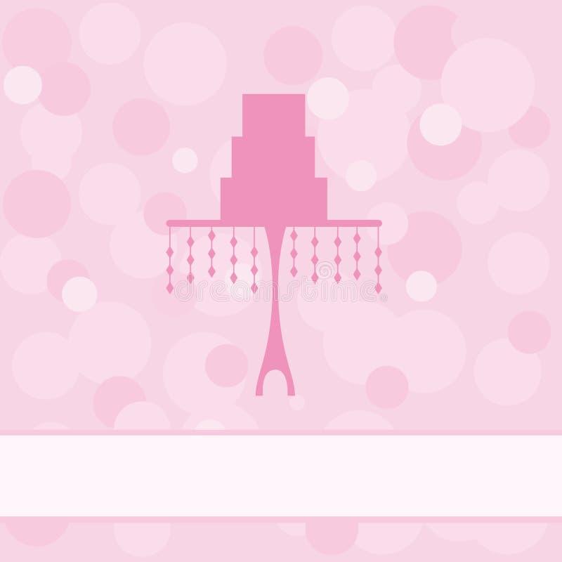 Wedding cake. On pink background royalty free illustration