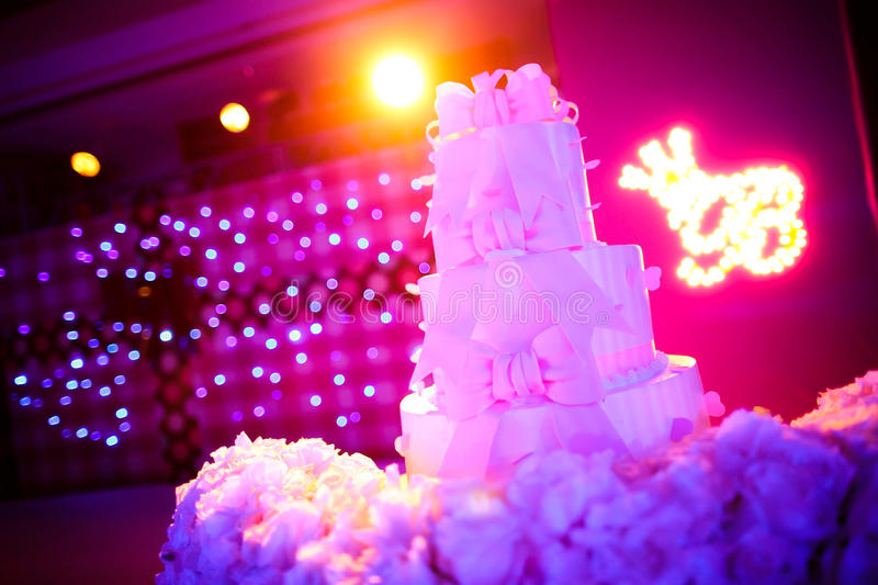 Wedding Cake. A four tiered wedding cake stock image