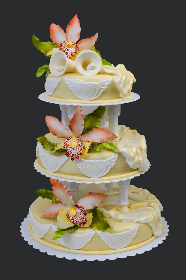 Download Wedding cake stock image. Image of green, cake, ceremony - 3361049