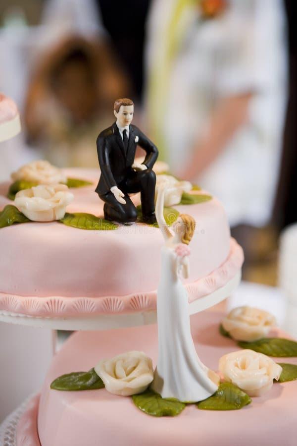 Wedding cake. A beautifull layered candy coloured wedding cake stock photo