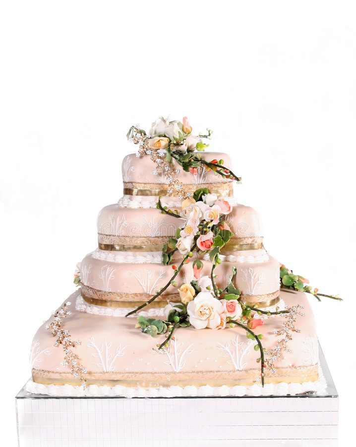 Download Wedding cake stock photo. Image of marriage, baked, design - 5247224