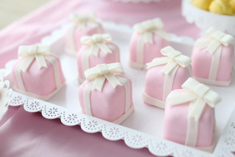 Wedding cake. Beautiful wedding cakes at wedding party stock image