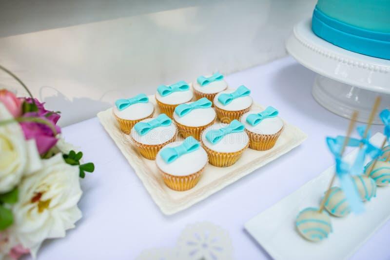 Wedding Cake. Beautiful wedding cake closeup color table stock photography