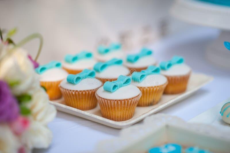 Wedding Cake. Beautiful wedding cake closeup color table royalty free stock photo
