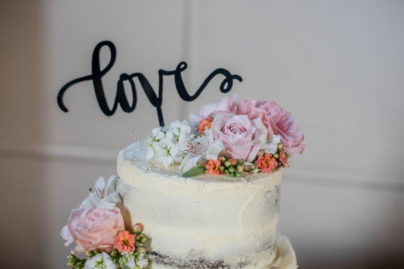 Wedding Cake. Beautiful  made By Chess royalty free stock photo