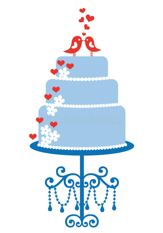 wedding cake vector wedding cake with birds vector stock vector image 30678446 26758
