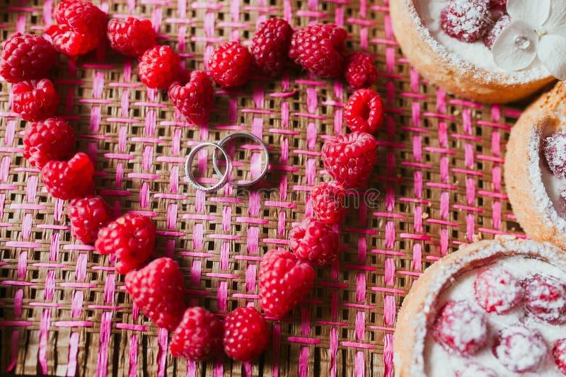 Wedding cake biscuit royalty free stock image