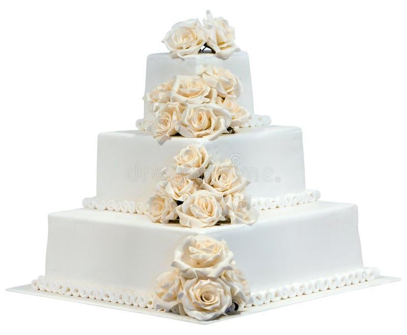 Wedding Cake Cutout Stock Photo