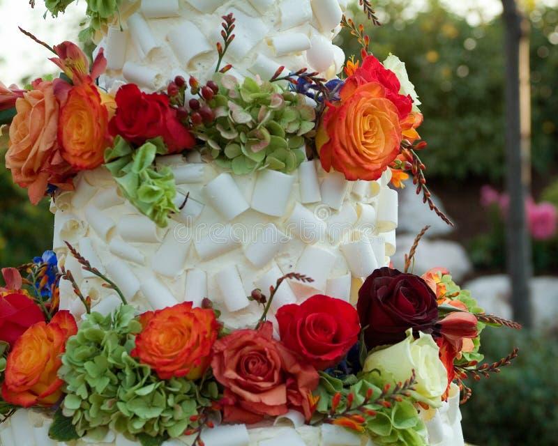 Wedding cake detail royalty free stock photo