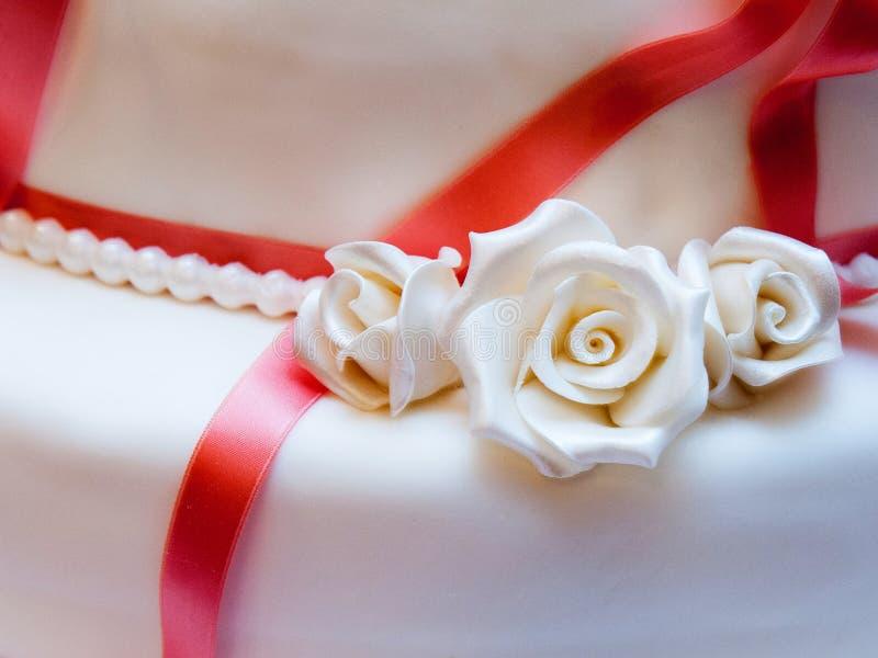 Wedding cake. Detail of a delicious wedding cake stock photo