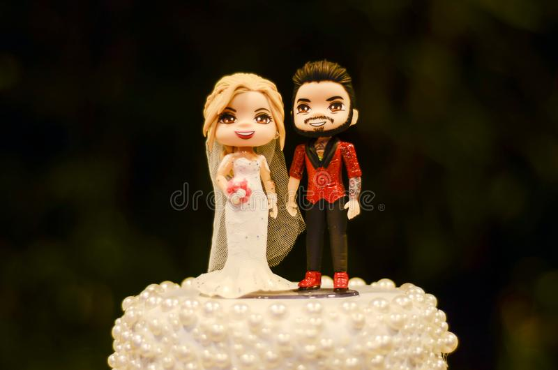 Wedding cake dolls. Original Wedding cake dolls in Brazil stock photography