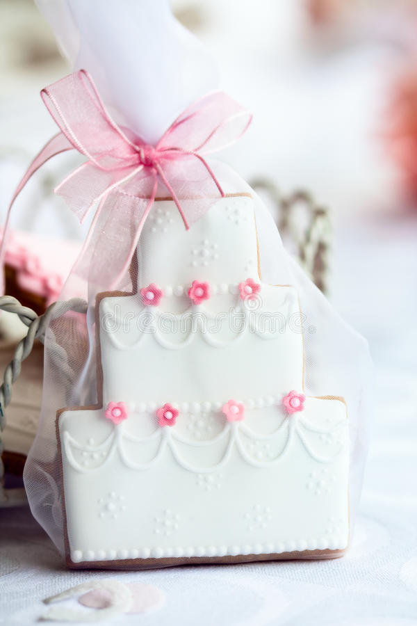 Wedding cake favor stock images