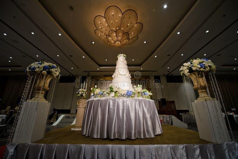 Wedding cake. Food white flower cakes celebration royalty free stock image