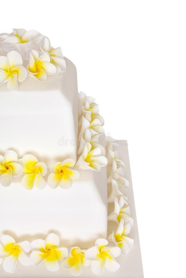 Download Wedding Cake With Frangipani Stock Photo - Image: 4874526