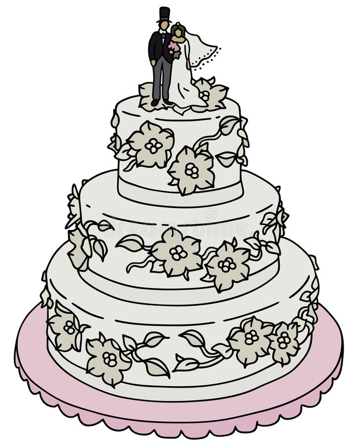 wedding cake vector wedding cake stock vector illustration of wedding 26758