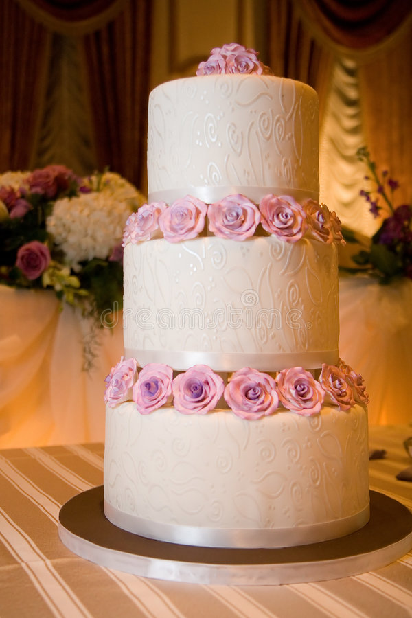 Wedding Cake on Head Table stock photography