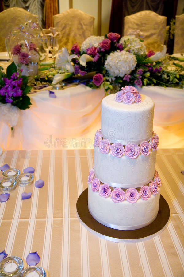 Wedding Cake on Head Table royalty free stock photography