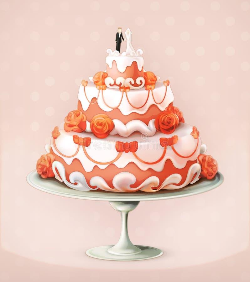 Wedding cake icon royalty free illustration