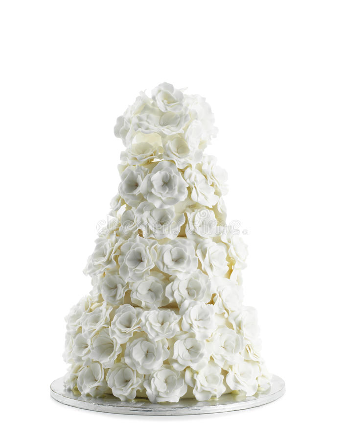 Download Wedding Cake Isolated On White Background Stock Photo - Image: 18359978