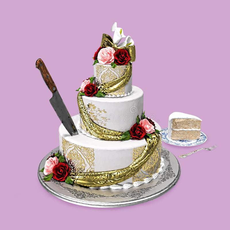 Enjoyable Cake Knife Stock Illustrations 3 312 Cake Knife Stock Personalised Birthday Cards Bromeletsinfo