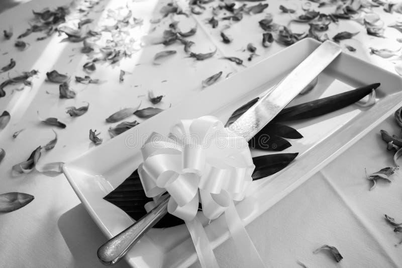 Wedding Cake Knife for wedding ceremony. stock images