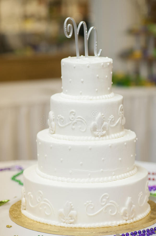 Wedding cake. For a New Orleans style wedding in Chicago royalty free stock photo