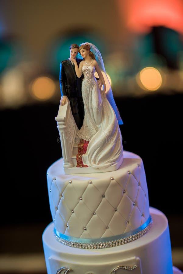 Wedding cake ornament stock images