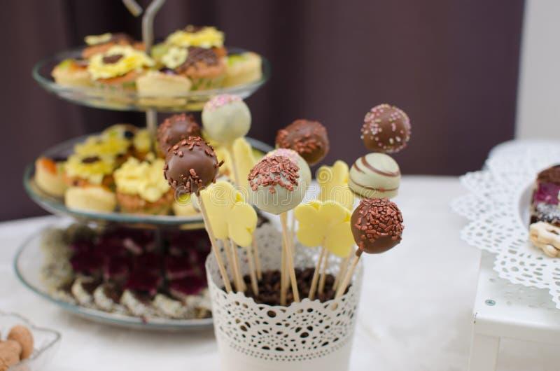 Wedding cake pops royalty free stock images