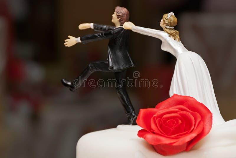 Wedding cake sculpture royalty free stock photo