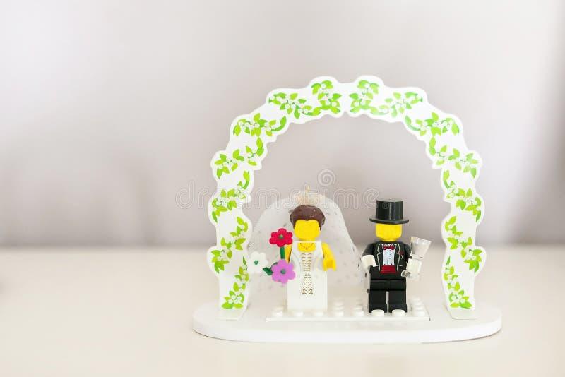 Wedding cake topper royalty free stock photos