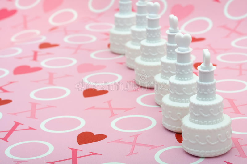 Download Wedding Cakes stock photo. Image of junk, kiss, background - 10207162