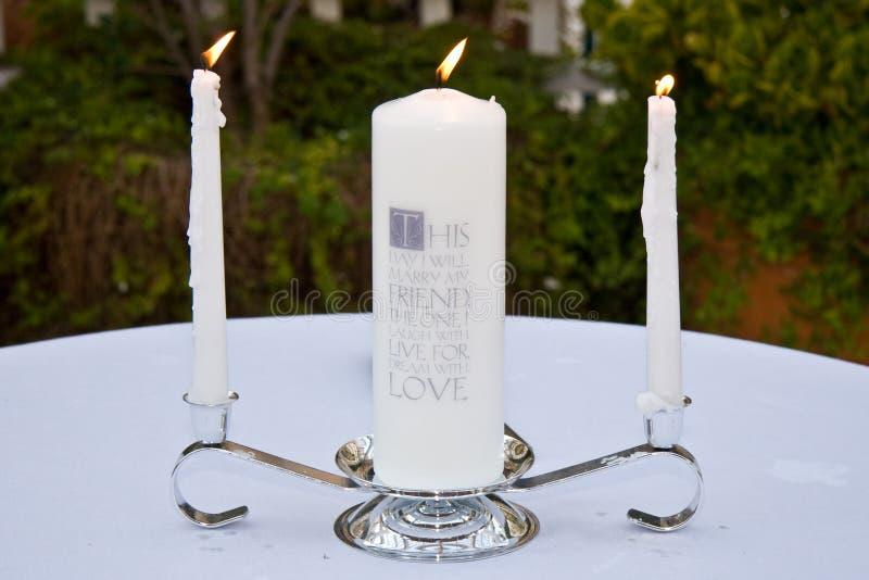 Wedding candles stock photo