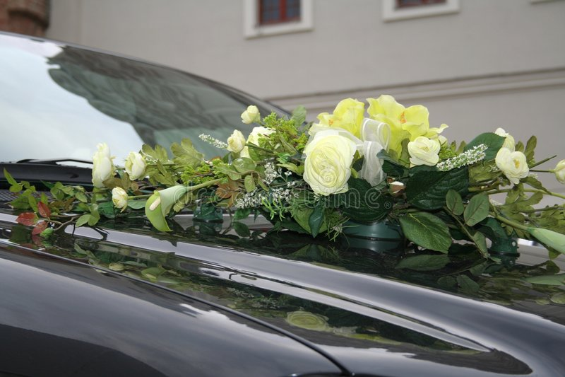 Download Wedding car stock photo. Image of flowers, matrimony, bunch - 1874876