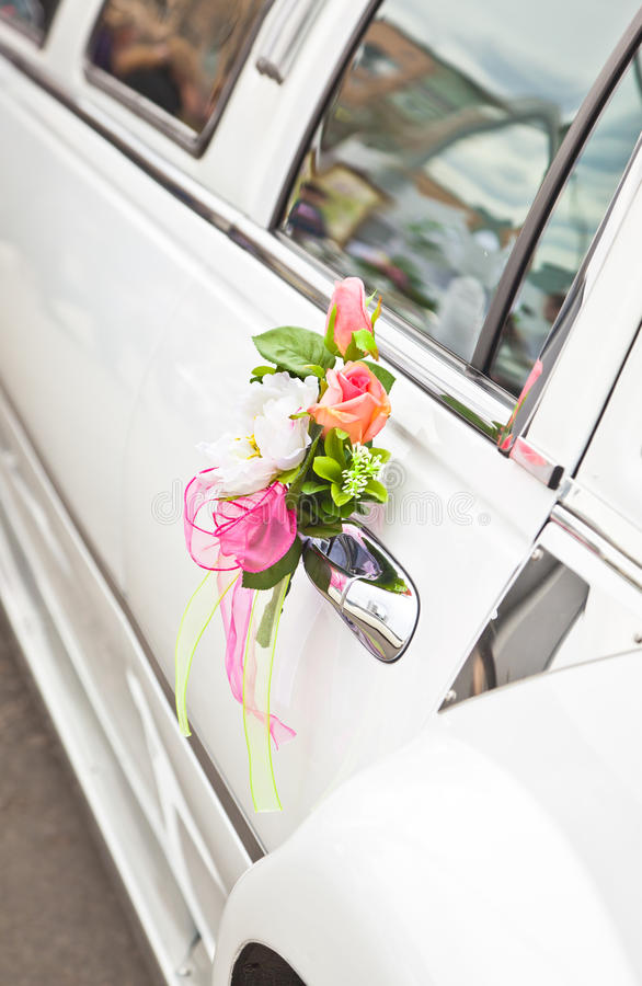 Wedding car stock image