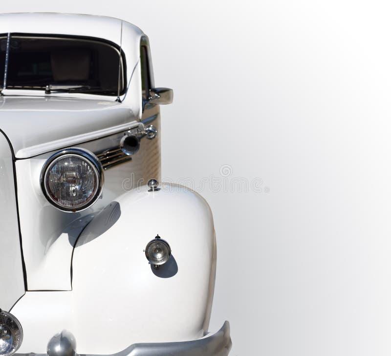 Wedding car. White Wedding Car, isolated on a white background royalty free stock photo