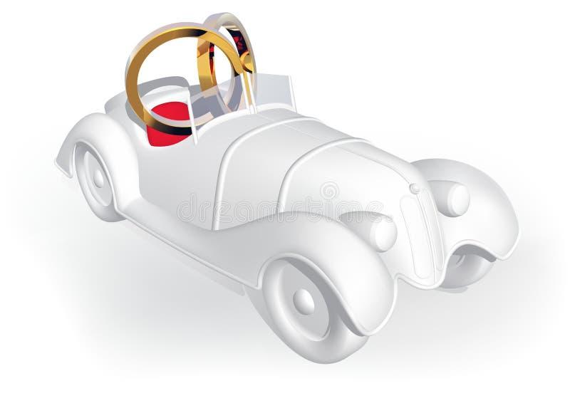 Wedding car. Detailed illustration as vector vector illustration