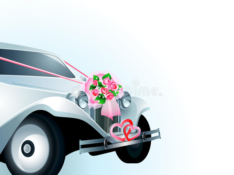 Wedding Car Card Stock Photos