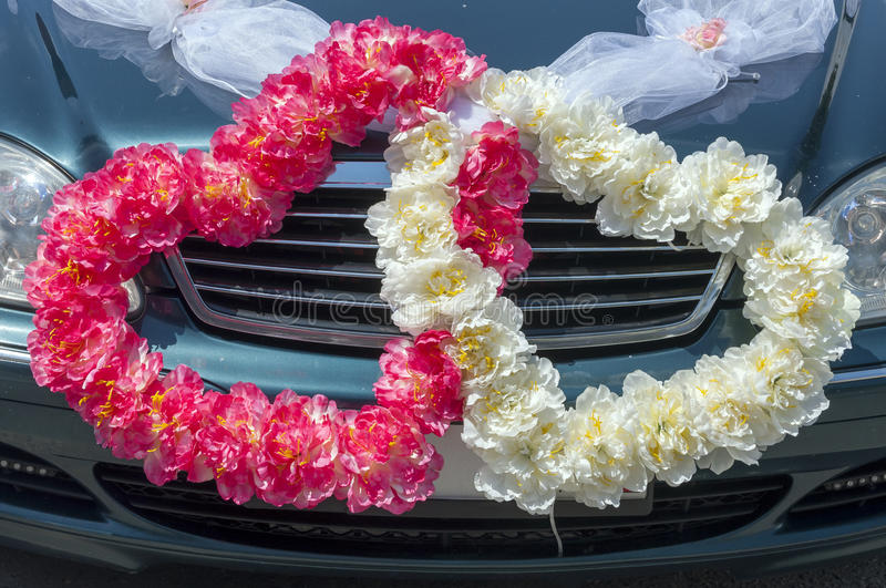 Wedding car decoration in the form of hearts stock image image of download wedding car decoration in the form of hearts stock image image of happy junglespirit Gallery