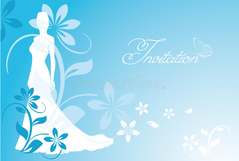 Wedding card vector illustration
